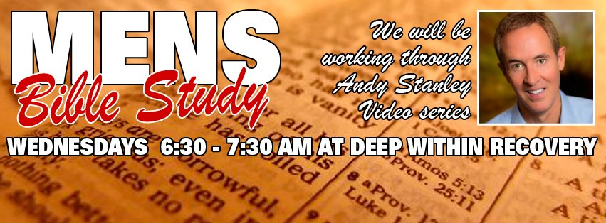 ‪Rob Laizure will be going through Andy Stanley's video series  every Wednesday morning at 6:30am-7:30am Deep Within Recovery 11773 N 91st Ave, Peoria, AZ 85345 ‬.